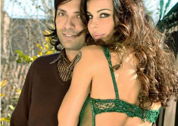 Lo stilista Anton Giulio Grande e la modella Nina Moric