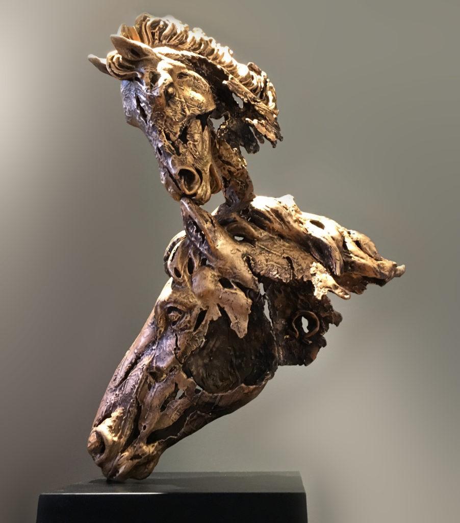 AMORE, scultura in bronzo, esemplare unico