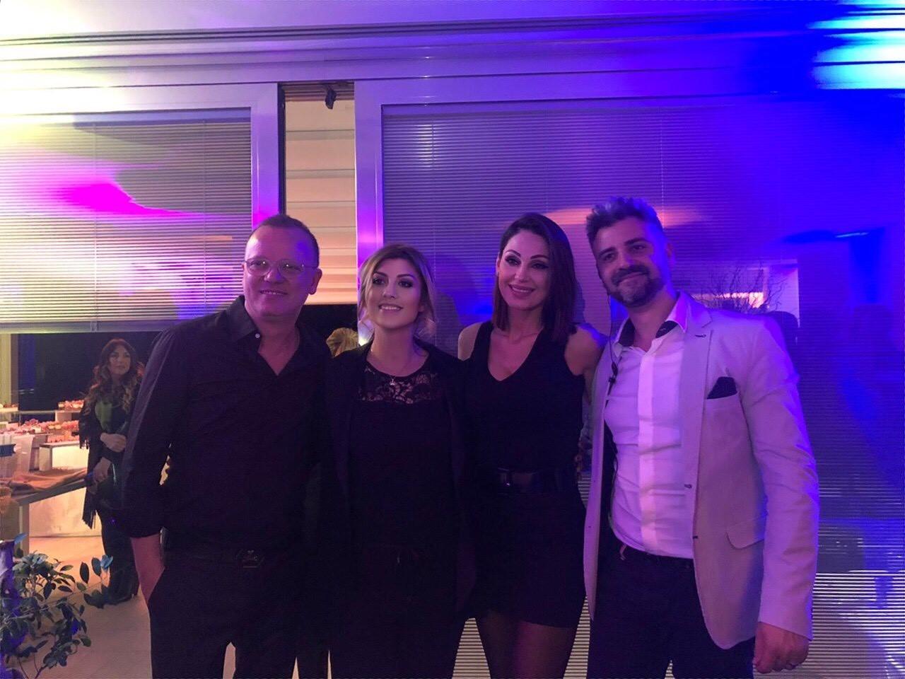 Da sx Gigi d'Alessio, Erika Morgera, Anna Tatangelo, Riccardo Ruchetta