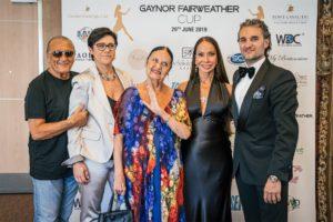 Da sx Tony Renis, Cinzia Saccani, moglie di Tony Renis, Gaynor Fairweather, Mirko Saccani - Ph. Matteo Pizzi