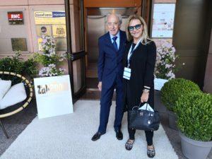 Vittorio Zanaboni con la giornalista Grazia Pitorri