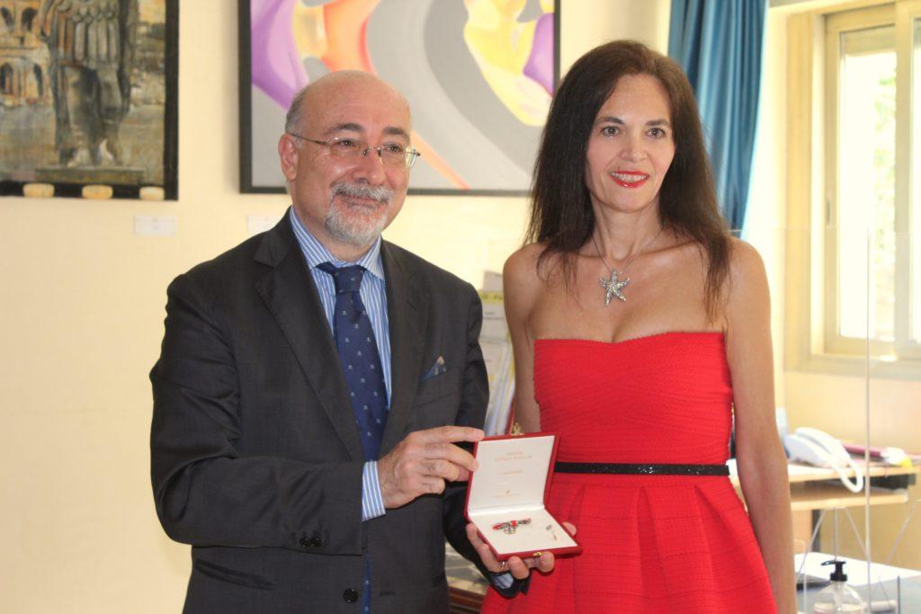 Cristiano Gallo (Sua Eccellenza l'Ambasciatore Italiano nel Principato di Monaco) Federica Nardoni Spinetta (Presidente Chambre Monegasque De La Mode)